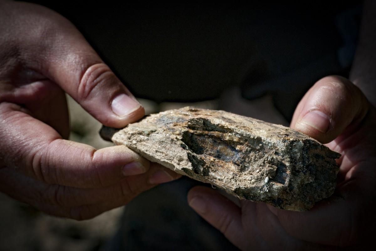 raspi hishand with rock small